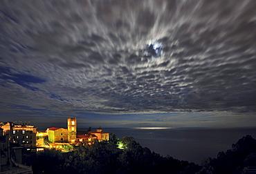 Duomo San Nicolo, Moonrise, Taormina, Sicily, Italy