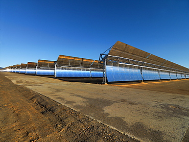 Andasol 1, the first solar parabolic trough power plant in Europe near Guadix, Calahorra, Granada, Andalusia, Spain