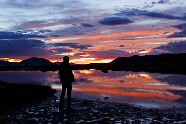 Sunset at Independence Lake, Independence Pass, Aspen, Colorado, USA, North America, America