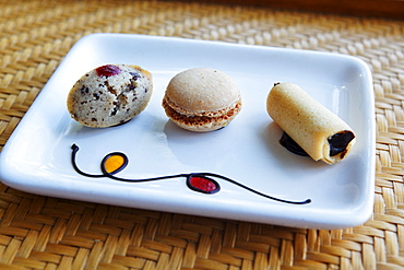 Tea cookies served during turn down service, Shanti Maurice Resort, Souillac, Mauritius, Africa
