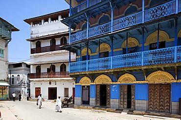 Houses in Stonetown, Zanzibar City, Zanzibar, Tanzania, Africa