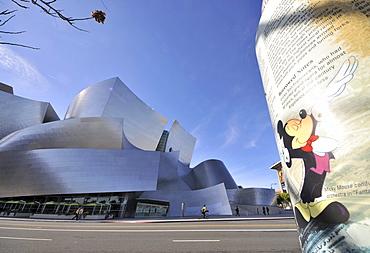 Exterior view of Walt Disney Concert Hall, Downtown, Los Angeles, California, USA, America
