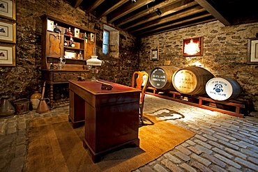 Vault with rare wkisky in Strathisla Distillery in Keith, the oldest continuously operating distillery in Scotland, Aberdeenshire, Scotland