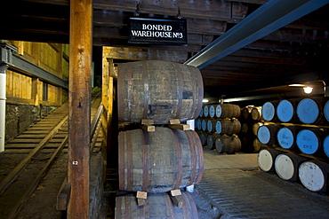 Warehouse of the Strathisla Distillery in Keith, Aberdeenshire, Scotland