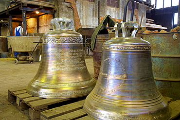 Eifeler Glockengiesserei at Brockscheid, Bell foundry, Brockscheid, Eifel, Rhineland-Palatinate, Germany, Europe