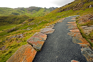 Miners Track towards Mt. Snowdon, Snowdonia National Park, Wales, UK