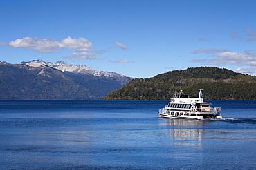Ship at Lago Nahuel Huapi, near San Carlos de Bariloche, Rio Negro, Patagonia, Argentina