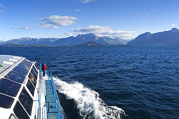 Passage at Lago Nahuel Huapi, near San Carlos de Bariloche, Rio Negro, Patagonia, Argentina