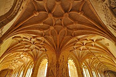 Vault of cloister of Jeronimos monastery, Lisbon, Portugal, Europe