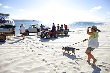 Arrival at Long beach, southern Great Keppel Island, Great Barrier Reef Marine Park, UNESCO World Heritage Site, Queensland, Australia
