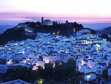 Andalusias white villages, Casares near Marbella, Andalusia, Spain