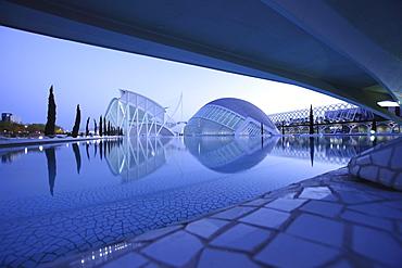 Museo de las Ciencias PrÃŒncÃŒpe Felipe, L'Hemisferic, Architect Santiago Calatrava, Valencia, Spain