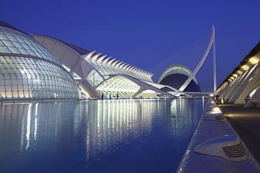 L'Hemisferic, Museo de las Ciencias PrÃŒncÃŒpe Felipe, Â¡gor, Architect Santiago Calatrava, Valencia, Spain