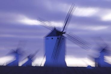 Windmills in Campo de Criptana, la Mancha, Castile, Spain
