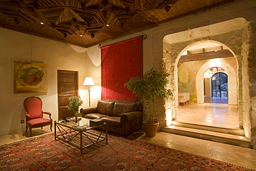 Lobby Lounge at La Reserva Rotana Finca Hotel Rural, Near Manacor, Mallorca, Balearic Islands, Spain
