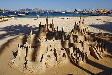 Sandcastle, Port de Pollenca, Pollenca, Mallorca, Balearic Islands, Spain, Europe