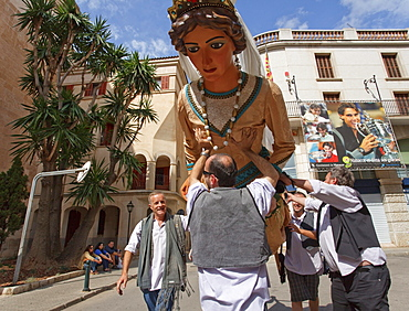 Trobada de Gegants, parade of the giants, Festes de Primavera, spring festival, Manacor, Mallorca, Balearic Islands, Spain, Europe