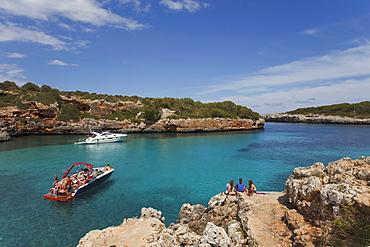 Cala Sa Nau, bay, near Cala dOr, Mallorca, Balearic Islands, Spain, Europe
