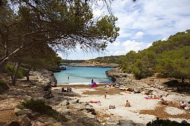 Calo d es Burgit, bay, beach, Parc Natural de Mondrago, natural preserve, Mallorca, Balearic Islands, Spain, Europe