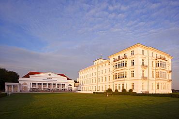 Hotel, Heiligendamm in the evening light, Baltic Sea, Mecklenburg Western-Pomerania, Germany, Europe