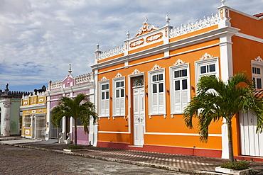 Historical houses in Canavieiras, Cacao Coast, State of Bahia, Brazil, South America, America
