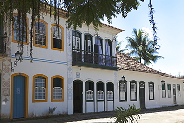 Historical houses in the colonial town Paraty, Costa Verde, State of Rio de Janeiro, Brazil, South America, America