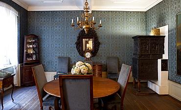 Frankfurter Goethe Haus, Blaue Stube, Frankfurt am Main, Hesse, Germany, Europe