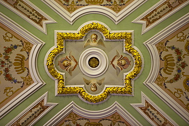 Ceiling in Peter and Paul Cathedral at Peter and Paul Fortress, St. Petersburg, Russia