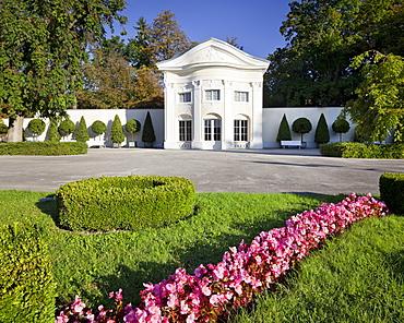 Rosarium and Orangerie at Dobelhoff Park, Baden, Lower Austria, Austria, Europe