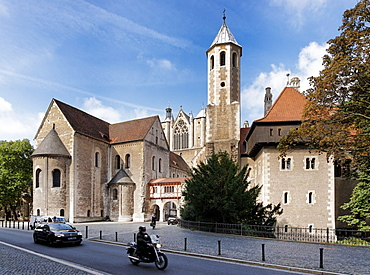 Castle Dankwarderode, Cathedral of St Blasii, Cathedral Square, Braunschweig, Lower Saxony, Germany