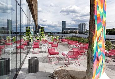 Cafe, Spree, Friedrichshain, Berlin, Germany