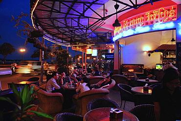 Bar at river Mekong, Pnom Penh, Cambodia