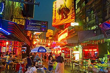 Bar in the street, Soi Cowboy, red light district, Bangkok, Thailand