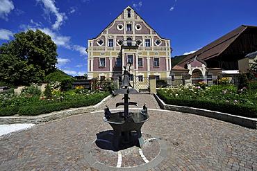 Museum of folk culture in the sunlight, Dietenheim, Val Pusteria, South Tyrol, Alto Adige, Italy, Europe