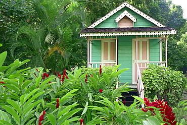 Little wooden house in La Sikwi, St. Lucia, Caribbean, America