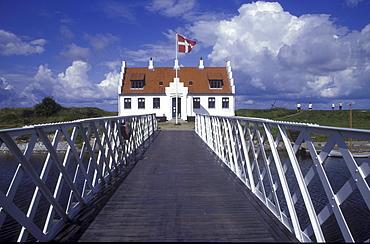 Jetty in front of Limfjordmuseum, Logstor, Juetland, Denmark, Europe