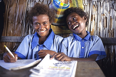 Schoolgirls, Arabala, Malaita, Solomon Islands
