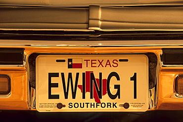Ewing 1 License Plate, Dallas, Texas USA