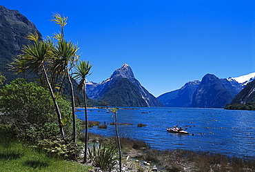 Canoe trip, Milford Sound, Fiordland National park, South Island, New Zealand