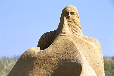 Sand Sculpture, Lakolk Beach, Romo, Denmark