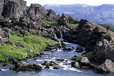 Stream at Almannagja Rift, Pingvellir National Park, Iceland