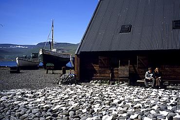 Drying Icelandic Saltfish, Turnhus Maritime Museum, Ã•safjoerdur, Isafj'rdur, Ã•safjardarbar, Iceland