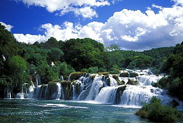 Waterfalls at Krka National Park, Dalmatia, Croatia, Europe