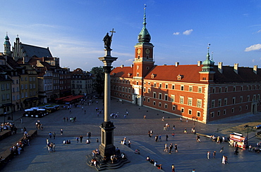 Castle Square with Royal Castle and Sigismund's Column, Warsaw, Poland
