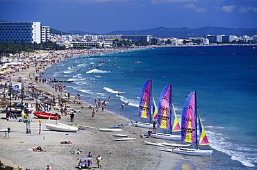 Platja d¥en Bossa, Ibiza Stadt, Ibiza, Balearic Islands Spain