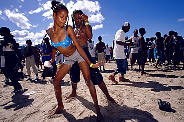 Chill Out party at Ash Wednesday, Las Cuevas Beach, Carnival Port of Spain, Trinidad and Tobago, Caribbean