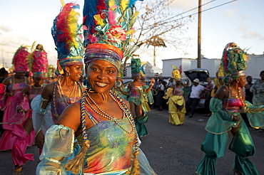 Beauty queens at theCarnival, Le Moule, Grande-Terre, Guadeloupe, Caribbean Sea, America