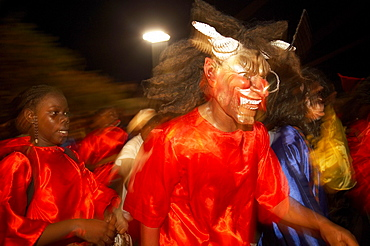 Monsters at the Carnival, Grande-Terre, Guadeloupe