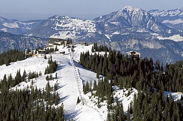 High angle view of Ehrenbachhoehe, Kitzbuehel, Tyrol, Austria, Europe
