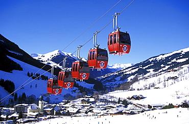 Kohlmais Aerial Cableway, Saalbach, Salzburger Land, Austria